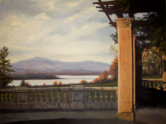 """""""View from Blithewood,"""" by Theresa Docherty, on view at Ulster Savings Bank Red Hook branch."""