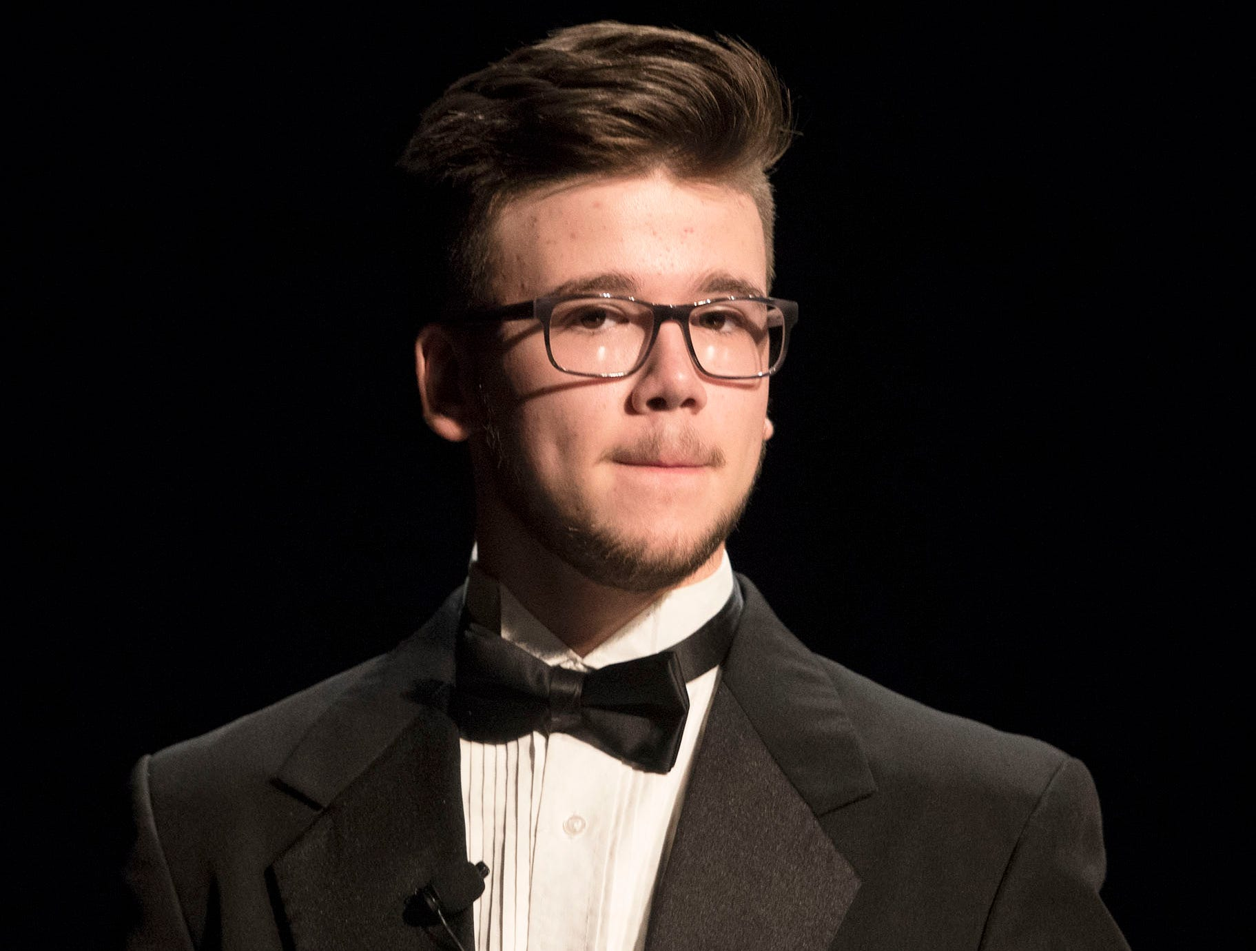 Benjamin Martin performs during dress rehearsal. The CASHS Drama Club (in cooperation with Music Theatre International) will be performing Songs for a New World By Jason Robert Brown on Friday, November 9, 2018 at 7:30 PM and Saturday, November 10, 2018 at 2:30 and 7:30 PM. 
