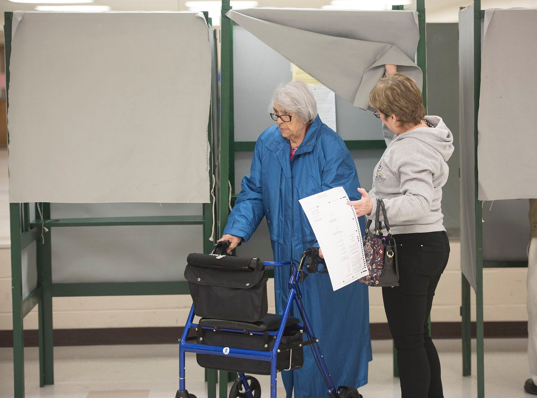 Voters are casting their ballots on Election Day 2018 at Eugene C. Clarke Community Center, Chambersburg.