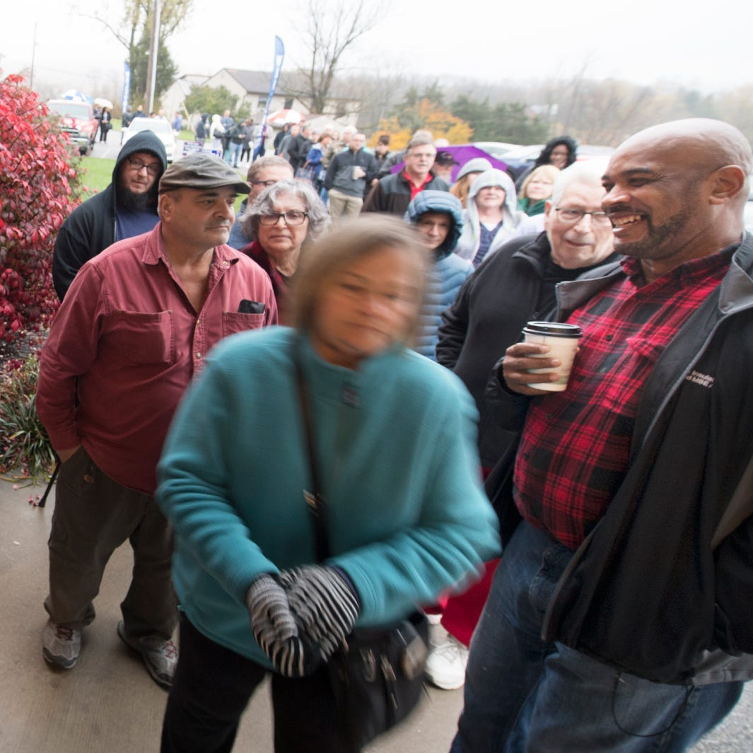 Long lines, friendly faces - and food - at York County polls in midterm election