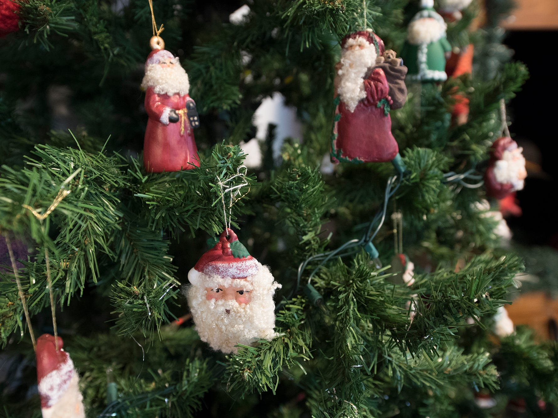Christmas ornaments are for sale at the Teaching Museum for the Fiber Arts & Textiles near Winterstown.