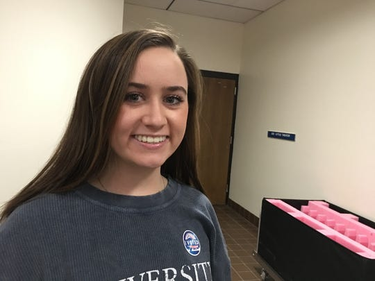 University of Nevada, Reno student Heather Nesbitt,20, voted at McQueen High School on Tuesday.