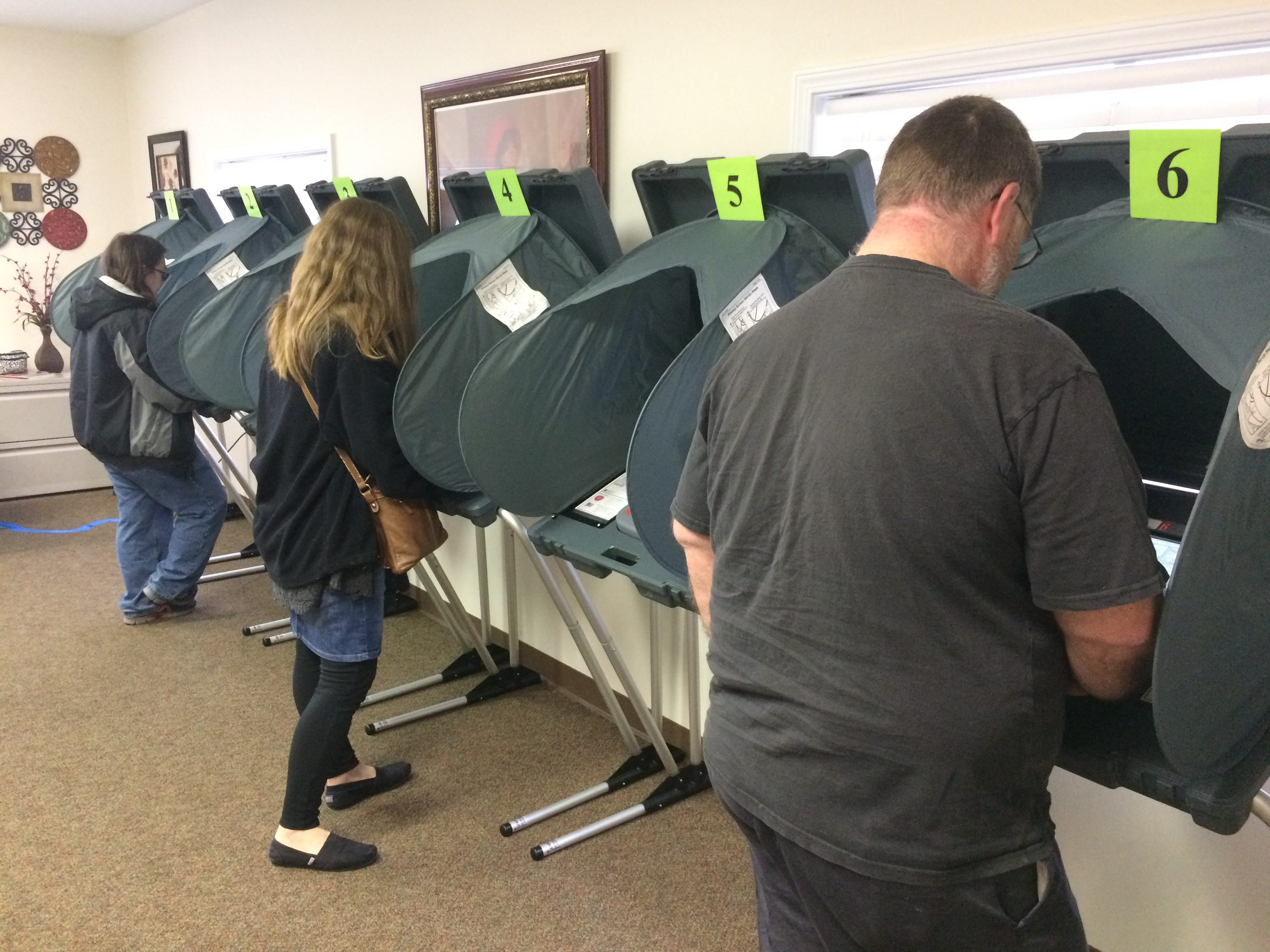 Wayne County voters participated in the general election Tuesday by voting at the vote center at Mount Olive Missionary Baptist Church in Richmond.