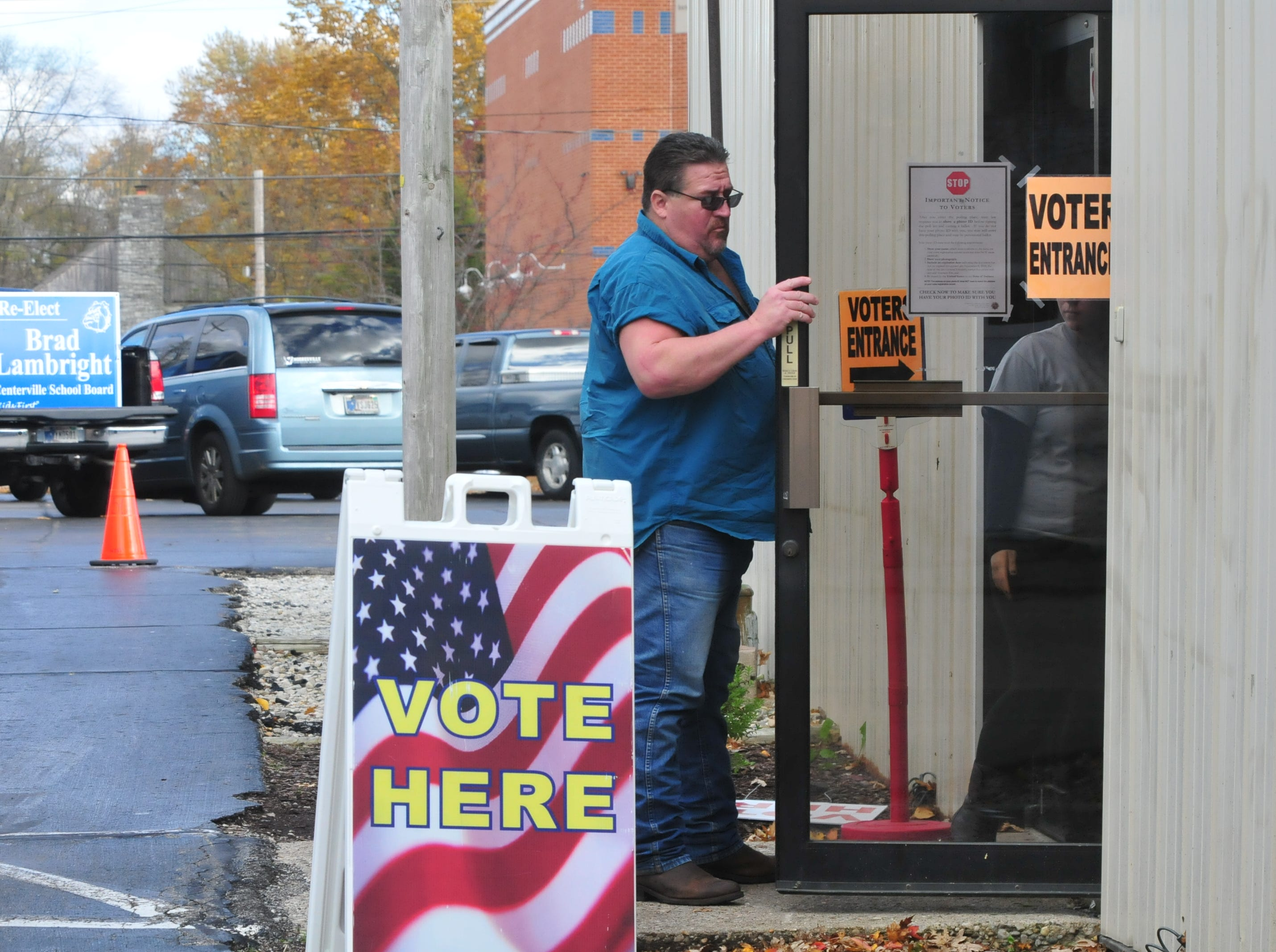 Voters enter the Centerville Christian Church Family Center to cast their ballots on Tuesday, Nov. 6, 2018.