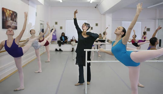 Aesha Ash guiding dance students at the Odasz Dance Theatre on N. Clinton Ave. in Irondequoit in February 2018.