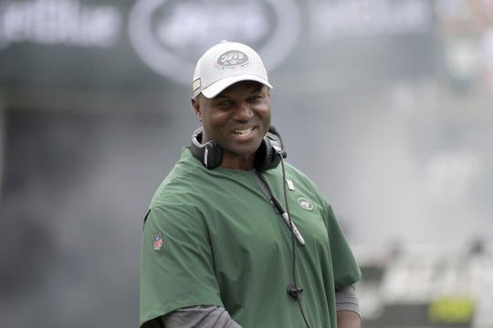 New York Jets coach Todd Bowles hasn't had a lot to smile about this season. His team is riding a three-game losing streak and hosts the Bills on Sunday. He is 23-34 in 3 1/2 seasons since replacing Rex Ryan.