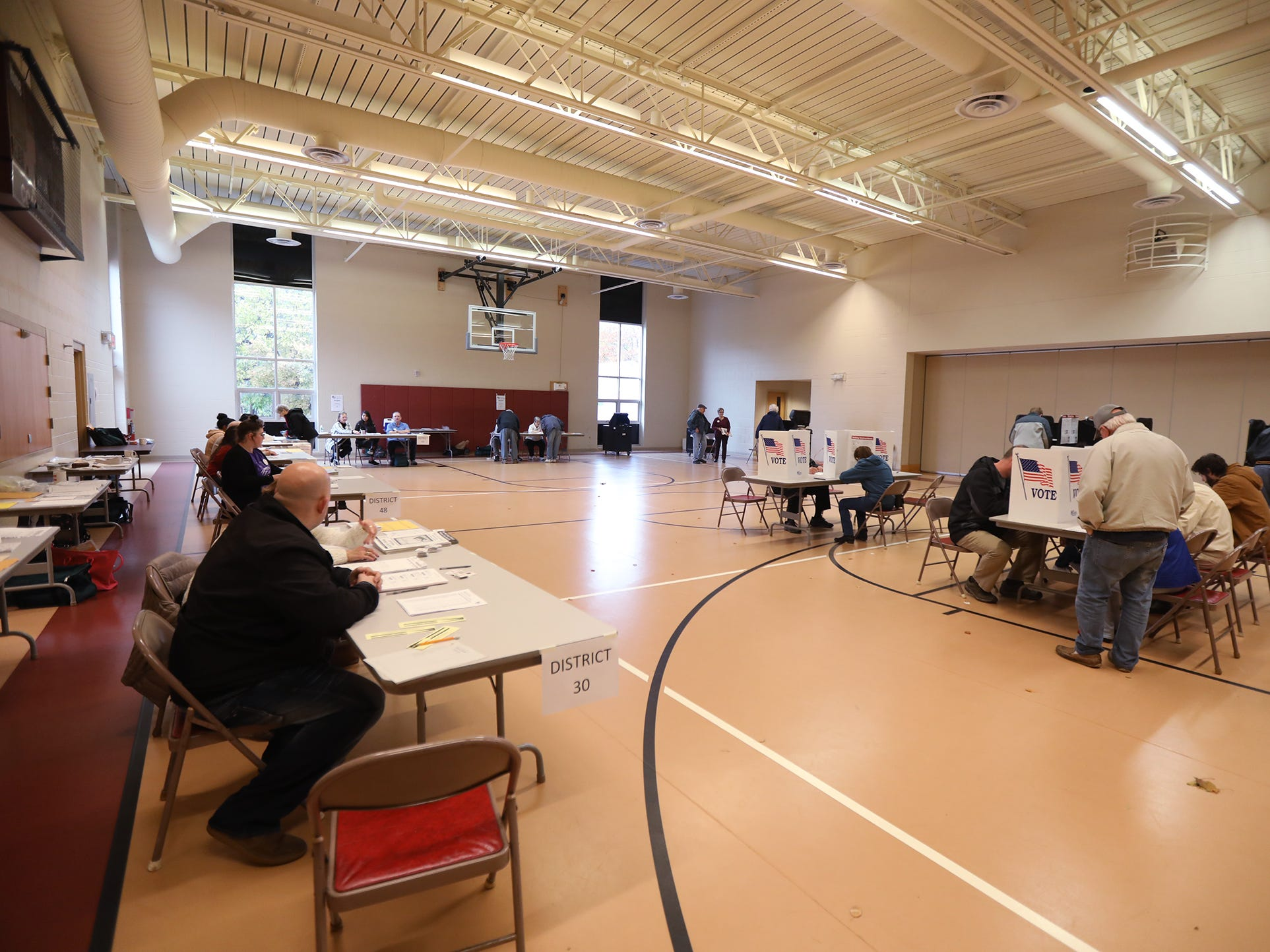 A steady flow of voters came to Aldersgate United Methodist Church in Greece to vote.