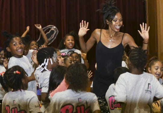 Ash, leading her camp in August 2018 at Edgerton Recreation Center, where kids learned about dance and much more.