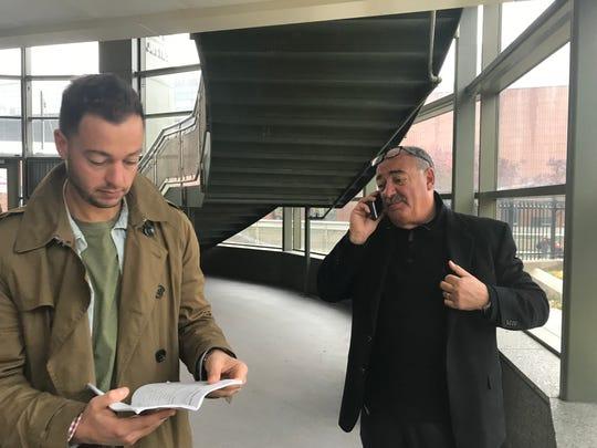 Investors Davide and Nunzio Salafia at the foreclosure auction