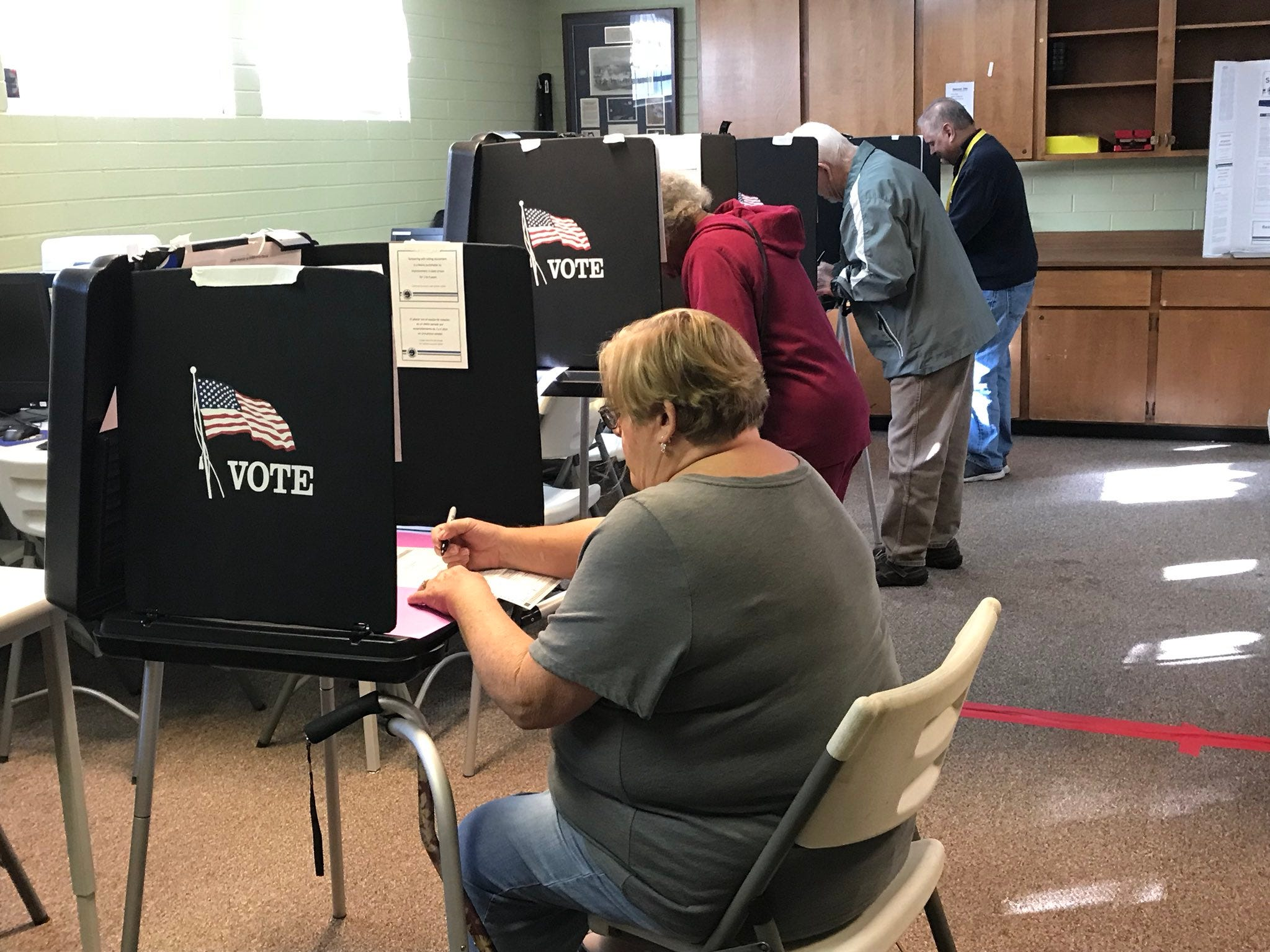 Redding voters cast ballots at the Martin Luther King Jr. Center.