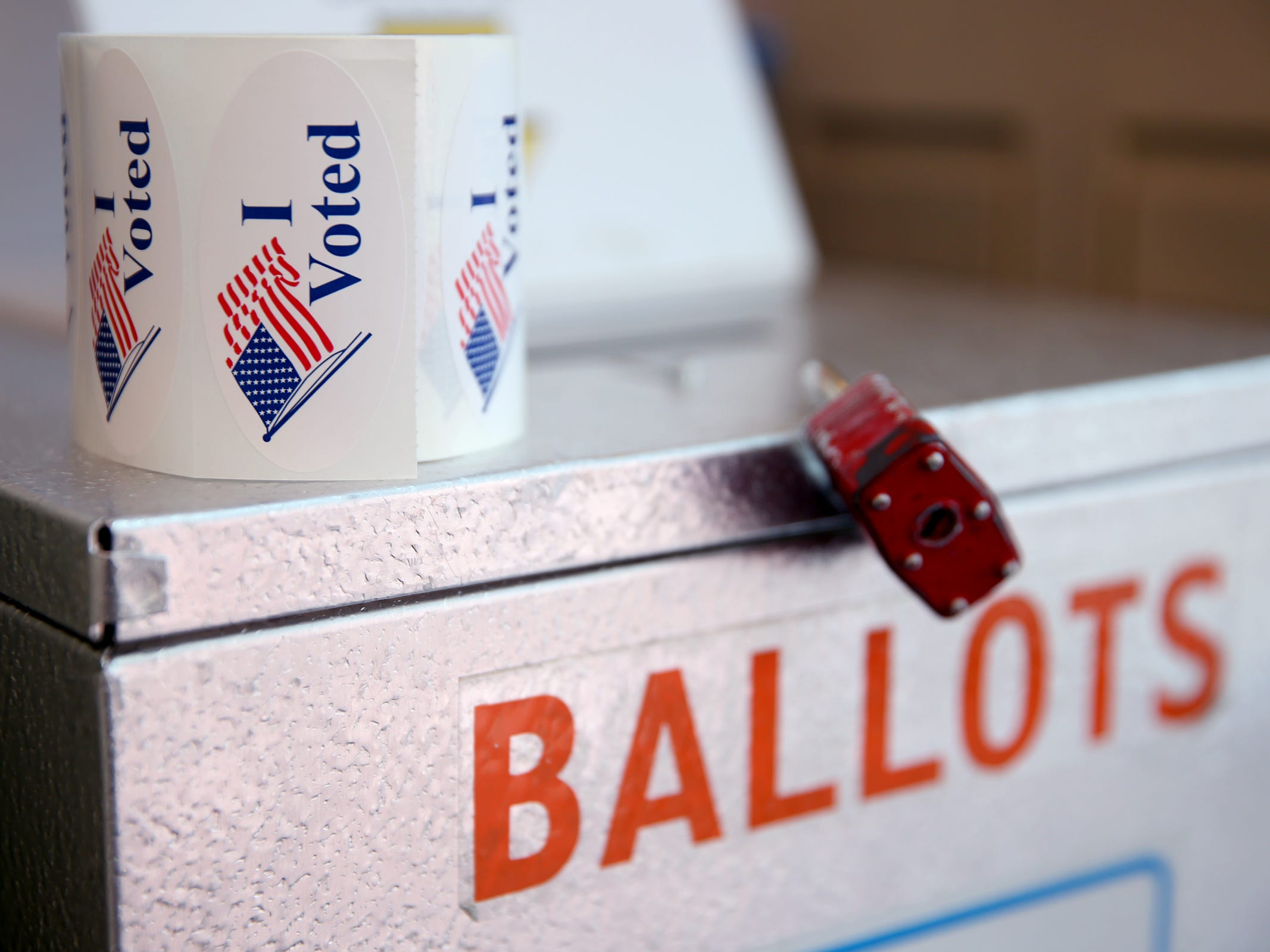 A ballot drop box in Salem on Election Day, Tuesday, Nov. 6, 2018.