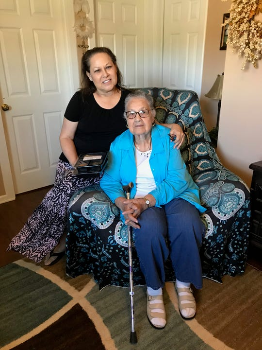 Mary Gonzales and her mother Margarita Lankford are Meals for the Elderly recipients.