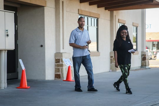 Johnny Holcomb and Alicia Holcomb voted Tuesday, Nov. 6, 2018, at Transit District Depot.