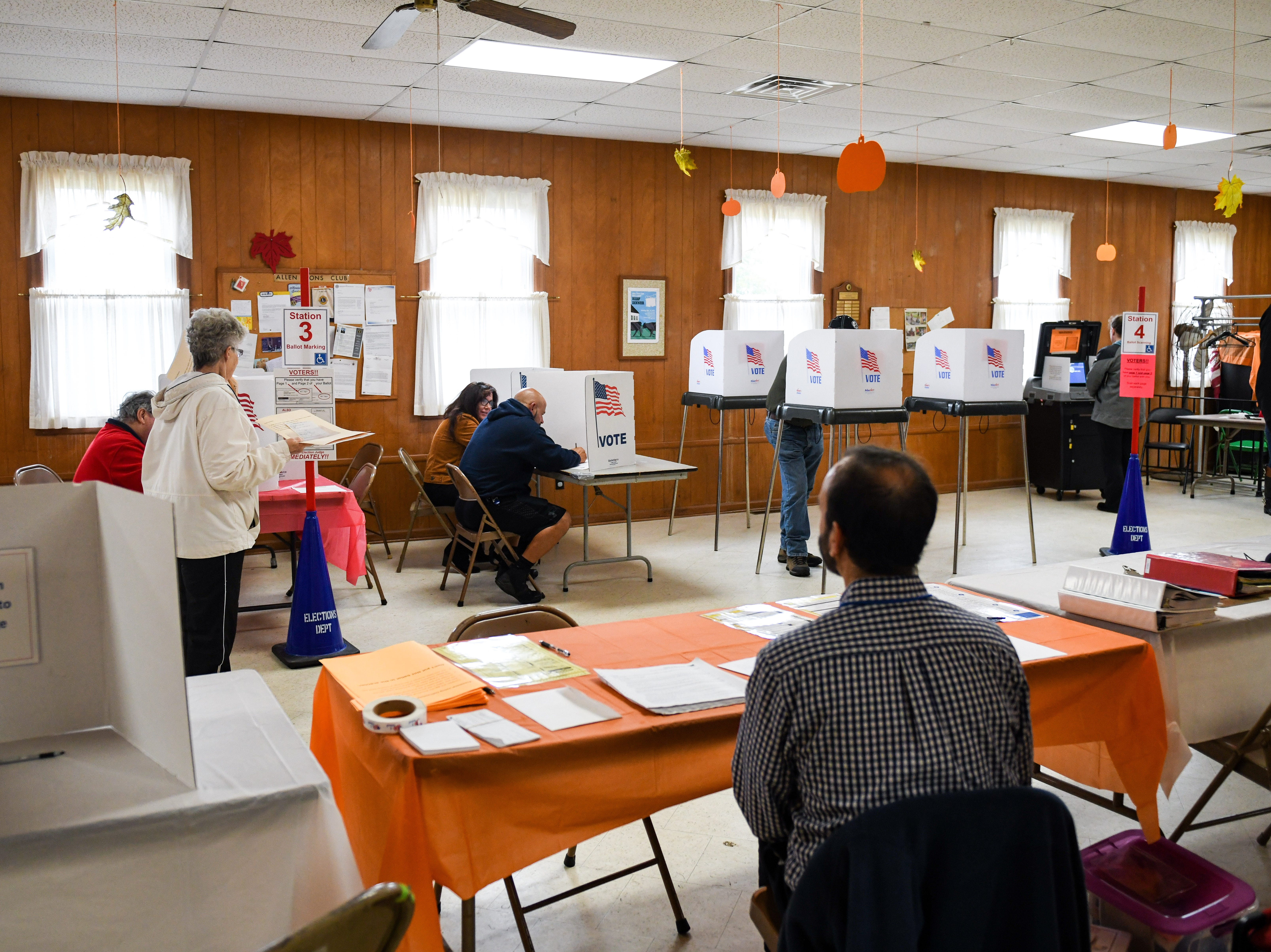 A steady trickle of residents voted at the Allen community hall on Tuesday, Nov 6, 2018.