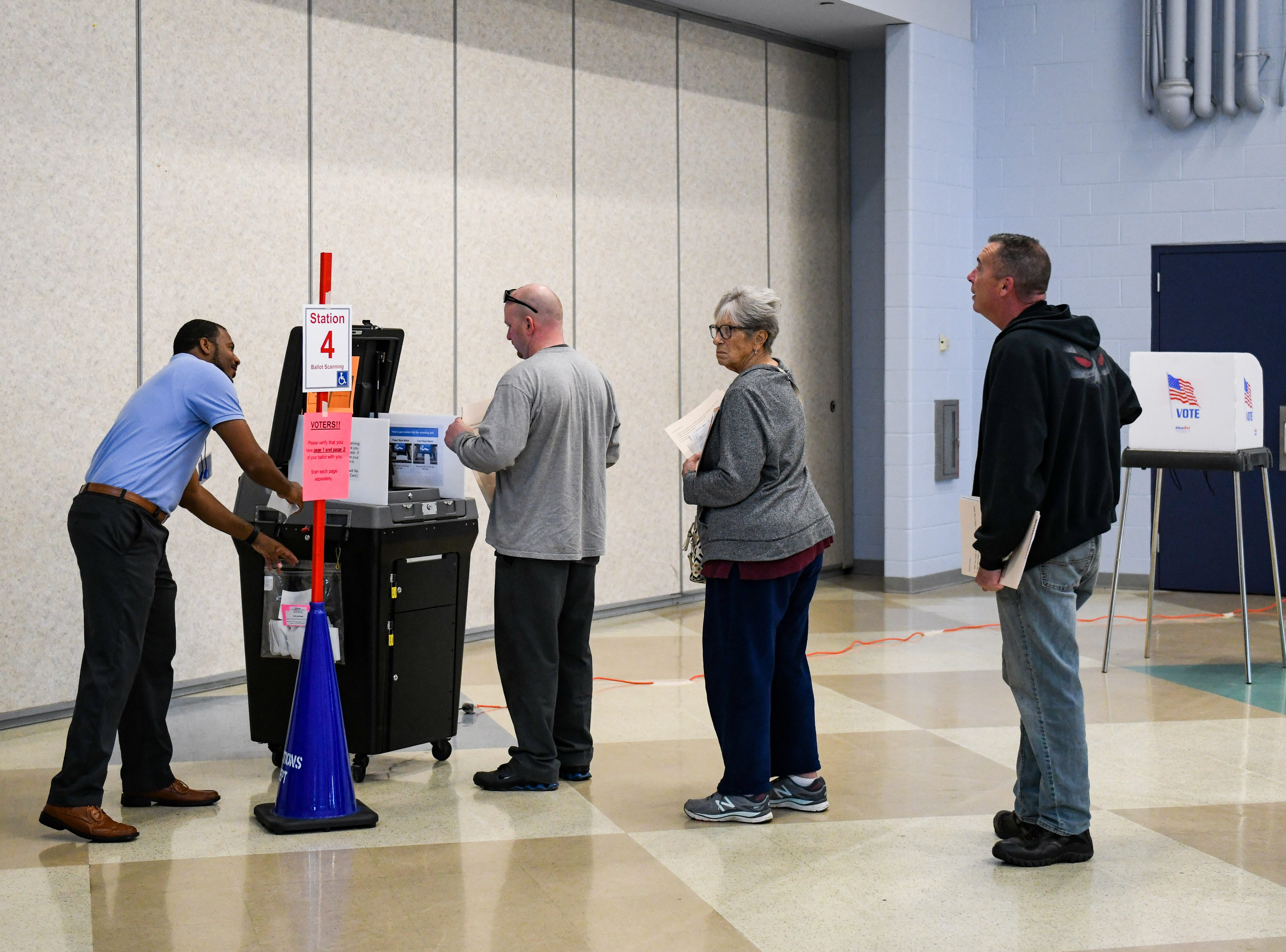 Residents enter their midterm election ballots at North Salisbury Elementary School on Tuesday, Nov 6, 2018.