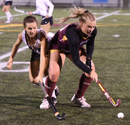 Salisbury University's Field Hockey forward Lexi Butler (30) of Pocomoke lead the team to the CAC Championship on Saturday, Nov. 3, 2018. (Photo by Todd Dudek for The Daily Times)