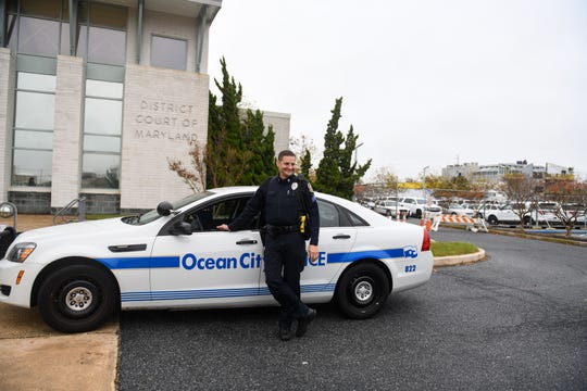 Sgt. Doug Smith poses in front of the Ocean City Police Department on Friday, Nov 2, 2018. Smith served in the U.S. Army and now works as the evening shift supervisor for the OCPD Patrol Division.