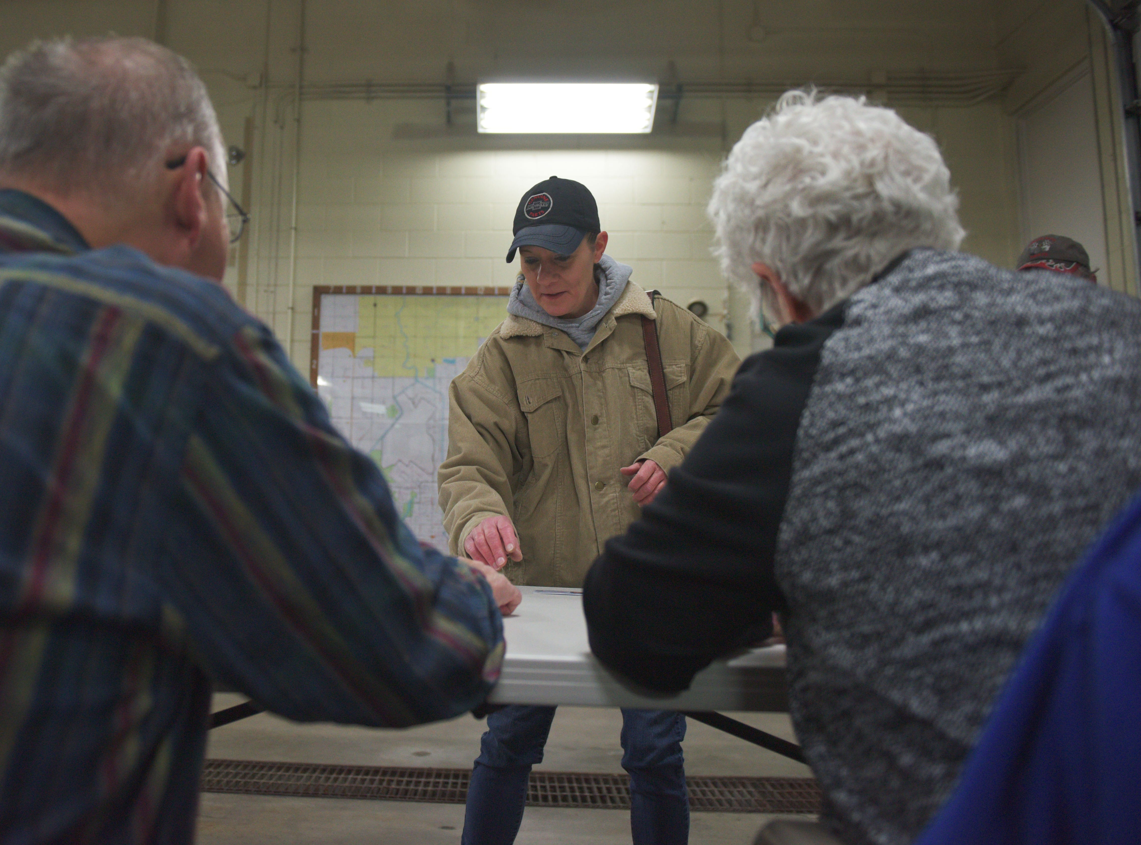 Melinda Meyer votes in the 2018 midterm elections Tuesday, Nov. 6, at Fire Station #7 in Sioux Falls.