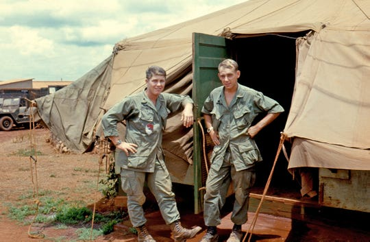 Eldon Nygaard, pictured right, flew helicopters for the United States Army during the Vietnam War. Today, Nygaard lives in Vermillion.