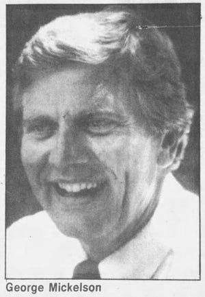 A photo of George Mickelson from the Nov. 5, 1986 Argus Leader