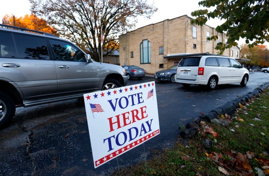 The Springfield Bible Church polling location on Tuesday, Nov. 6, 2018.