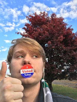 Jake Morris voted for the first time in the midterm elections Nov. 6, 2018.