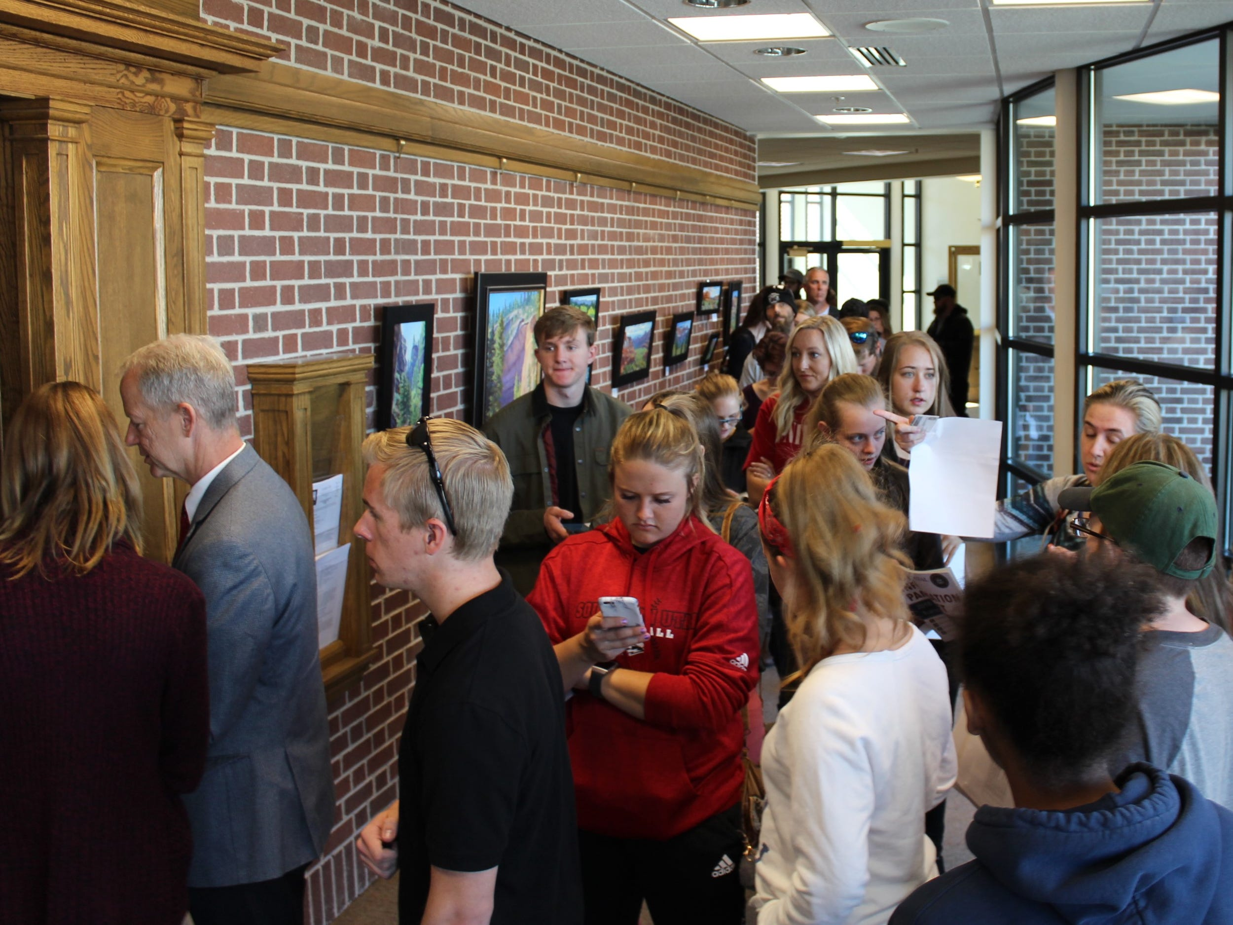 Voters packed the halls of Cedar City offices November 6, 2018.