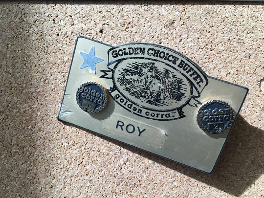 Comic Roy Wood Jr. still has his Golden Corral name tag when he worked at the chow palace in Tallahassee.