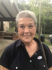 Evelyn Mcnease voted at the sole poling location in Woodville during the midterm election Tuesday.