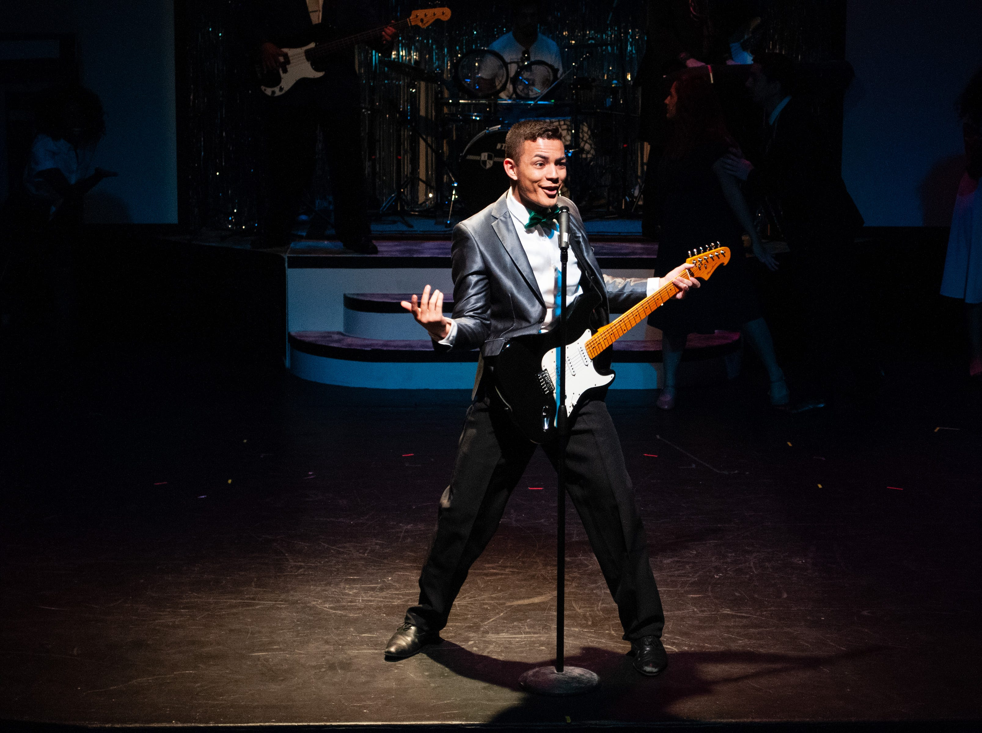 "Santos Sanchez as Robbie Hart, the Wedding Singer in Theatre Tallahassee's production of ""The Wedding Singer."""