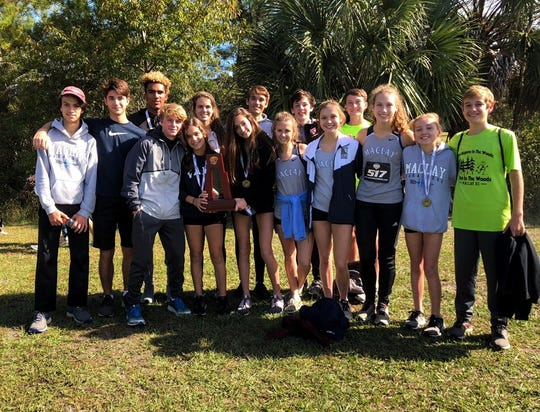 Maclay's girls cross country team captured a Region 1-1A title in Jacksonville last Saturday, while the Marauders' boys took third behind junior Jay Brown's individual win.