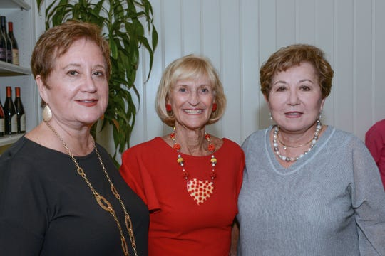 Faye Potts, left, Glennie Bowland and Silvia Cancio at Big Brothers Big Sisters' 10th annual Chocolate, Champagne & Chefs fundraiser at Quail Valley River Club in Vero Beach.