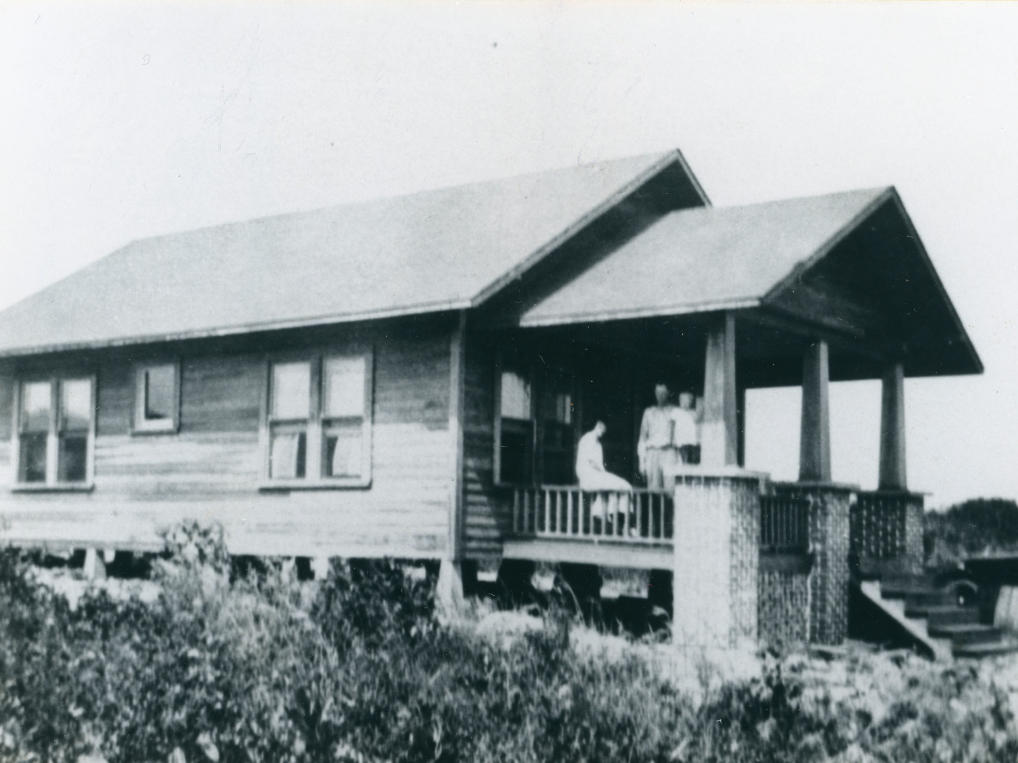 Helen Kroegel Ryall and N.B. Ryan Sr. Pictured in 1919 in their Florida cracker house along the Sebastian riverfront, built for the couple by her father, Arthur Kroegel.