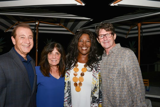 Gary and Linda Mastro, left, with Jerusha Stewart and Bob Stanley at the 10th annual Chimp's Kitchen event to benefit Save the Chimps.