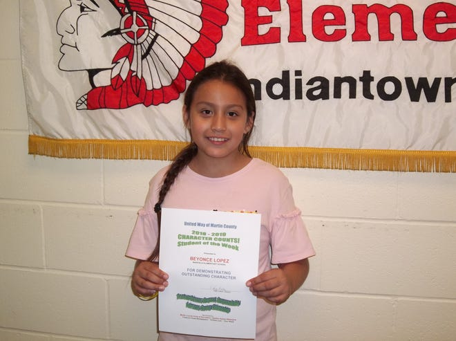 Beyoncé Lopez, CHARACTER COUNTS! Student of the Week for Nov. 14.
