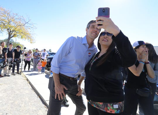 Senate candidate Beto O'Rourke visits polling stations on Election Day Nov. 6, 2018, in El Paso. O'Rourke later held his election night watch party at Southwest University Park.