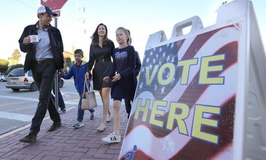 U.S. Rep. Beto O'Rourke, who is running to unseat Sen. Ted Cruz, walked from his Sunset Heights home in El Paso to vote at the El Paso Community College Rio Grande Campus Tuesday.