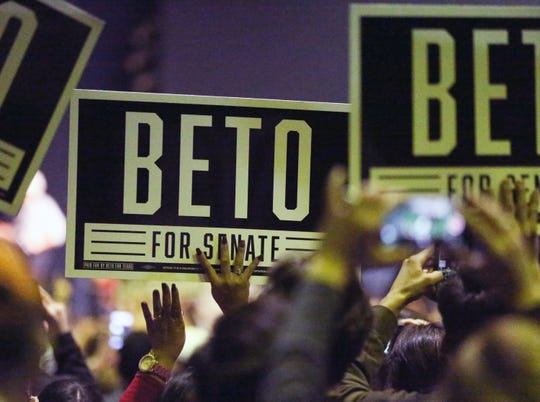 A capacity crowed of El Pasoans showed up to hear Democratic U.S. Senate candidate Beto O'Rourke speak during his final campaign rally before Tuesday's midterm elections.