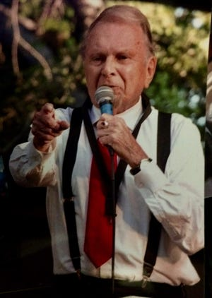 Dick Dodd sings at the 2018 Fourth of July concert in Ojai.