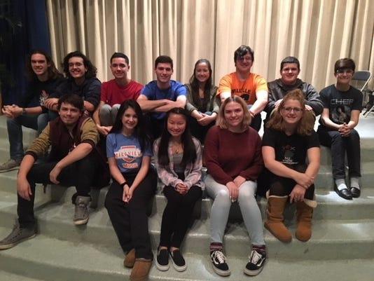 Millville High School Dessert Theater Cast 2018