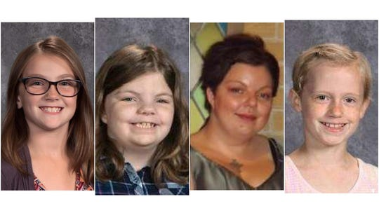 Jayna Kelley, 9, Haylee Hickle, 10, Sara Schneider, 32, and Autum Helgeson, 10, were the victims of the Saturday hit-and-run in Lake Hallie, Wisconsin. The four with with a Girl Scout troop, cleaning up trash along a highway.