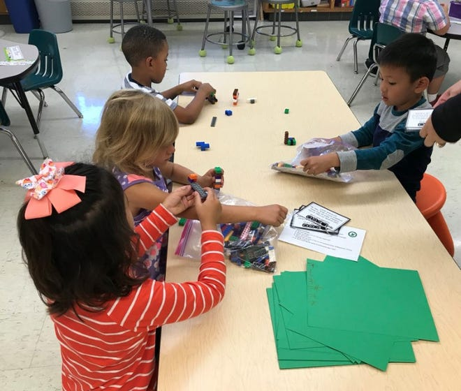 Weston Elementary students work in small groups, which helps them learn how to collaborate, integrate ideas and respect others.
