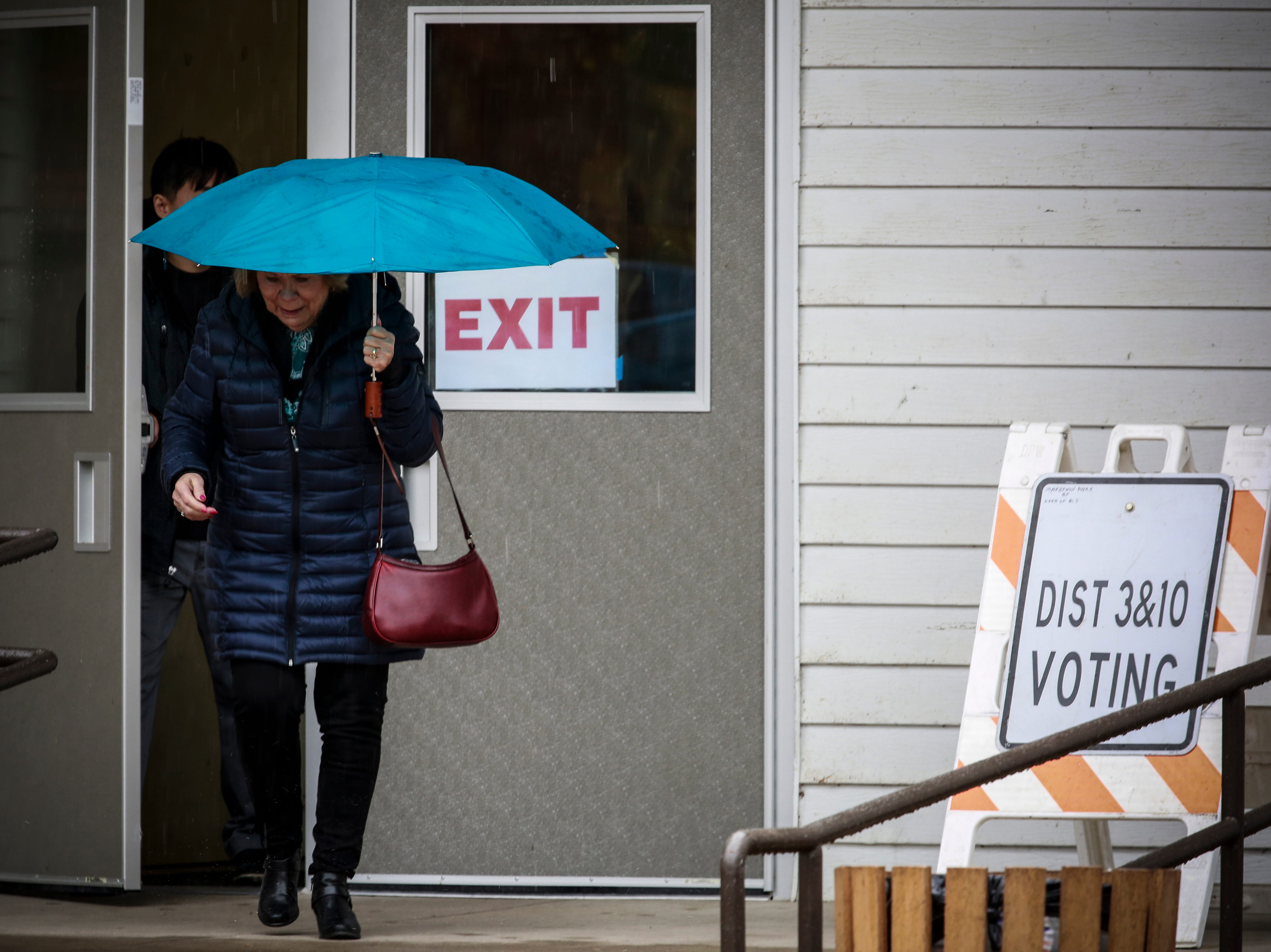 A voter leaving the voting polls Tuesday, Nov. 6, 2018, at the Youth Building in Marathon Park in Wausau, Wis. T'xer Zhon Kha/USA TODAY NETWORK-Wisconsin