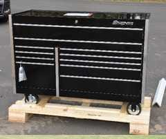 A white truck, possibly an Isuzu flat-nose truck (with a flatbed on it) drove onto someone's property in the township of Rib Mountain, without lights, on Oct. 12. The vehicle backed up to a storage trailer and stole two Snap-On-brand toolboxes, one like that pictured.