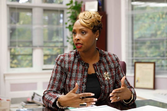 Tahira A. DuPree Chase, superintendent of schools, Greenburgh Central School District in her office on Nov. 5, 2018.