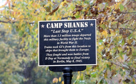 A sign for former Camp Shanks site, where the Rockland Homes for Heroes organization is building housing for veterans in Tappan, Nov. 5, 1018.