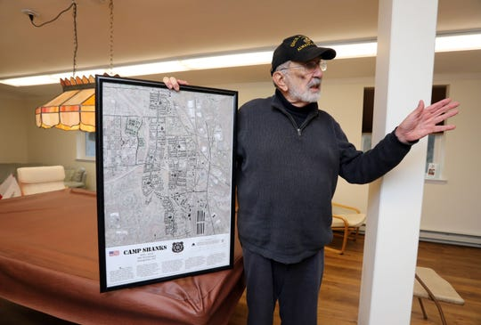 John Murphy, founder of Rockland Homes for Heroes which builds housing for veterans on the site of the former Camp Shanks, talks about what's left of the site Nov. 5, 2018 in Tappan.
