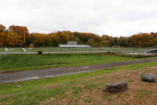 The Woodlands High School football field, a possible site for a proposed new school building at the Warburg campus of the Greenburgh Central School District in Hartsdale on Nov. 5, 2018.
