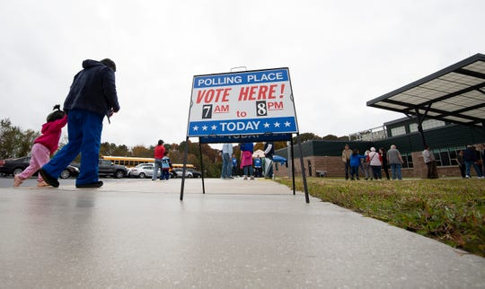 Midterm election voting at H.O. Brittingham Elementary School in Milton, Del.