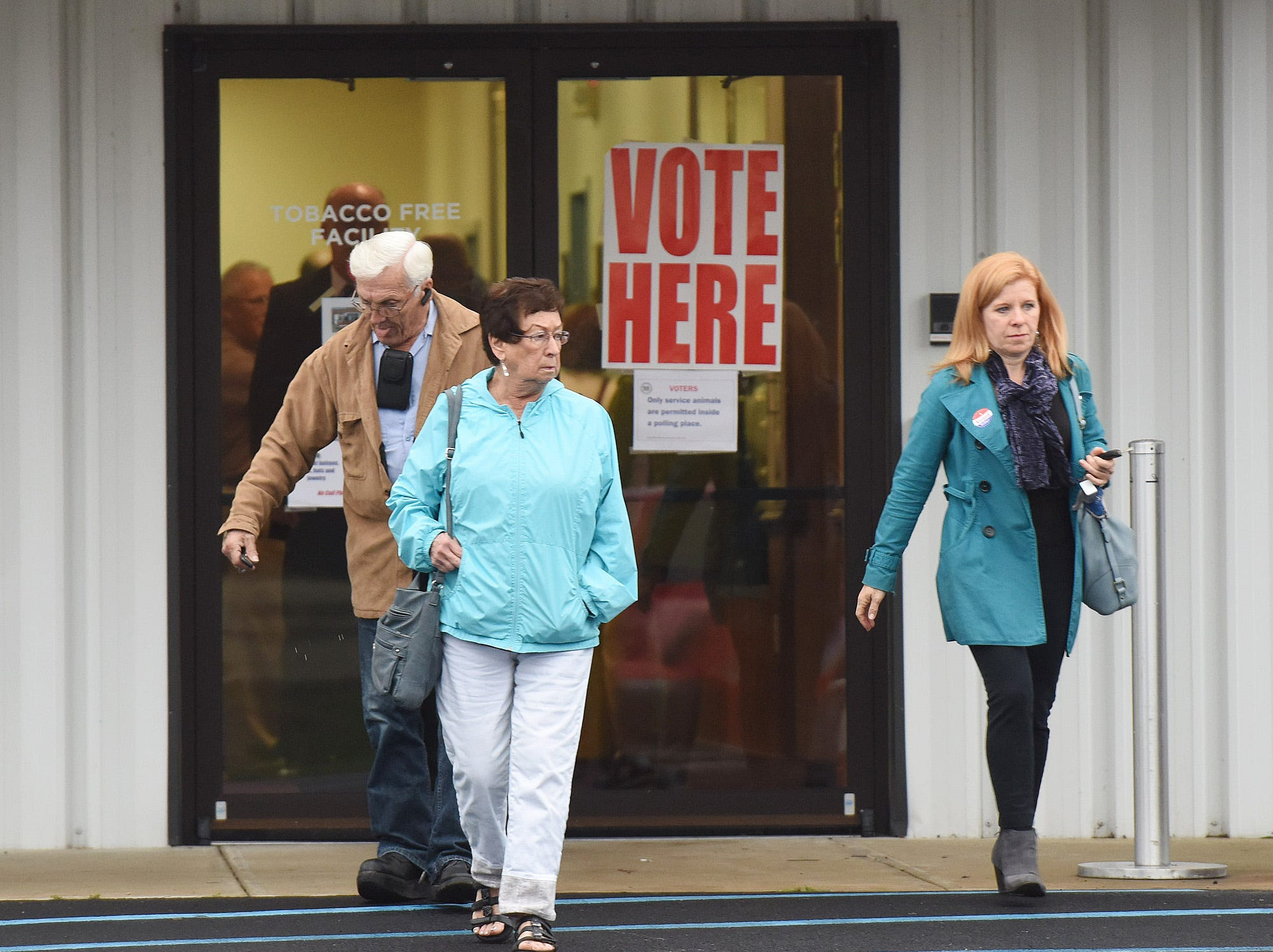 Voter turnout in eastern Sussex County has been steady Tuesday morning at polling places in Rehoboth, Roxana and Angola.